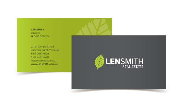 Len Smith Business Card Quality Branding