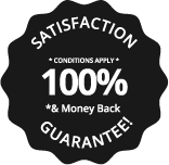 100% satisfaction & money back guarantee Logoland Badge