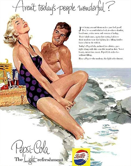 Beautiful 1950's Pepsi Advertisements