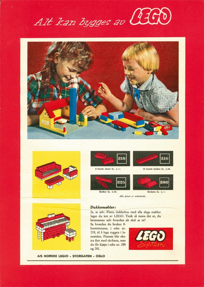 1960 old Lego advertisement