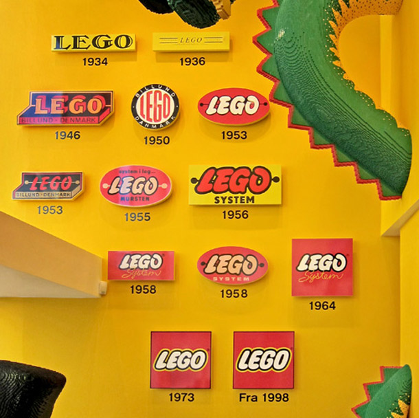 History of the LEGO logo by year.
