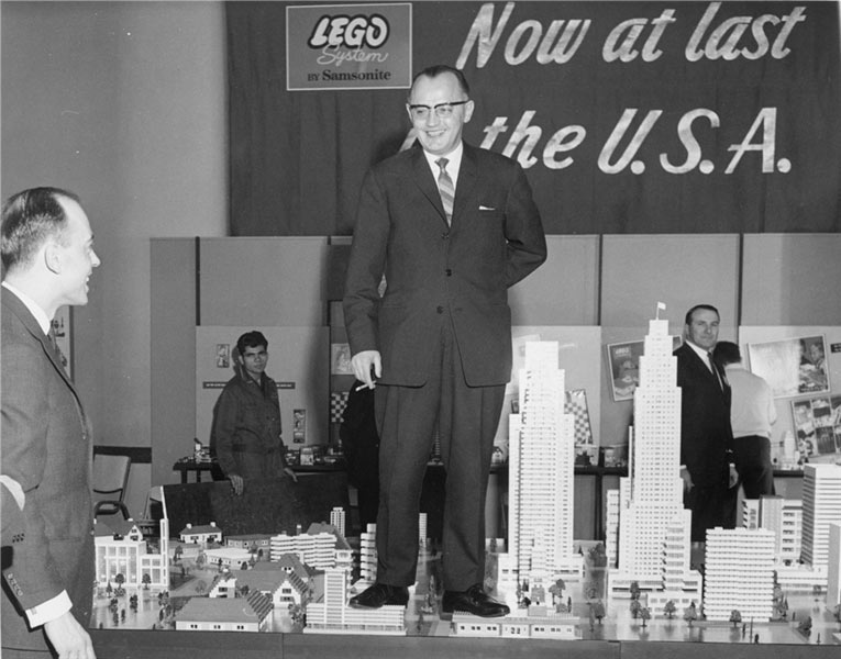 Godtfred Kirk Christiansen at the 1962 International Toy Fair