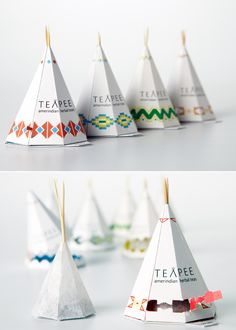 Cool Tent Tea Label Design