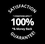 100% satisfaction guarantee badge Logoland