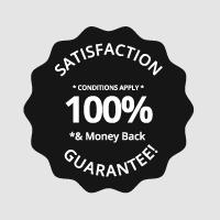 100% satisfaction guarantee Logoland badge