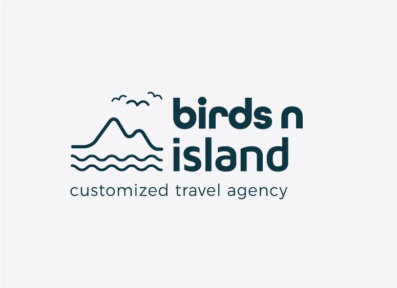 Birds n Island logo design