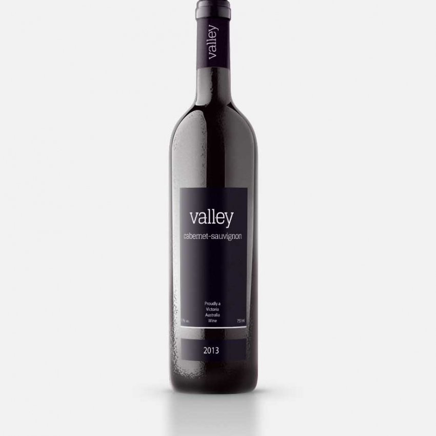 Valley Wine logo & label design